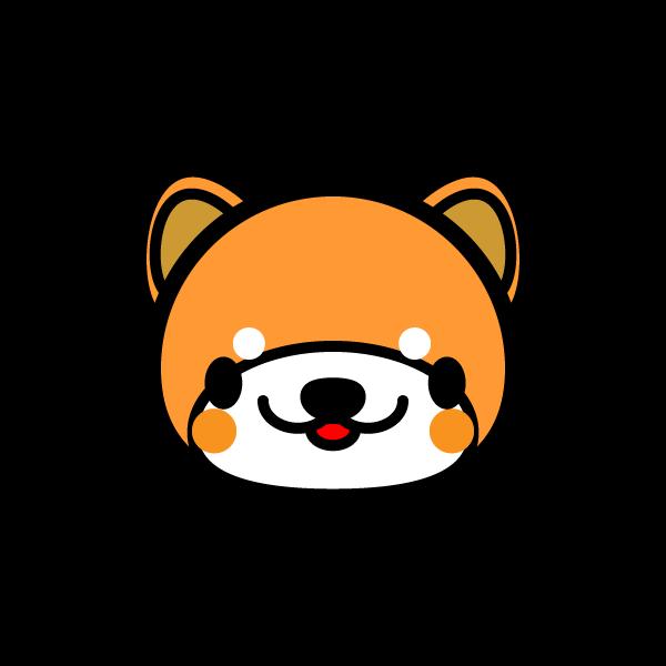 かわいい顔だけの秋田犬の無料イラスト・商用フリー