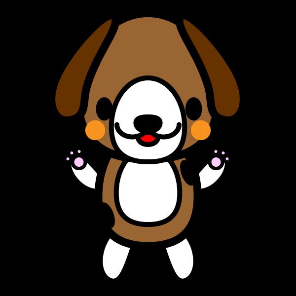 かわいいビーグル犬の無料イラスト・商用フリー
