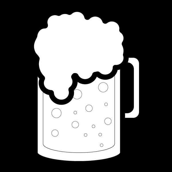 白黒 beer_mug,blackwhite