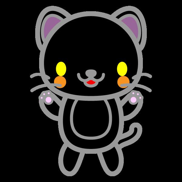 かわいい黒猫の無料イラスト・商用フリー