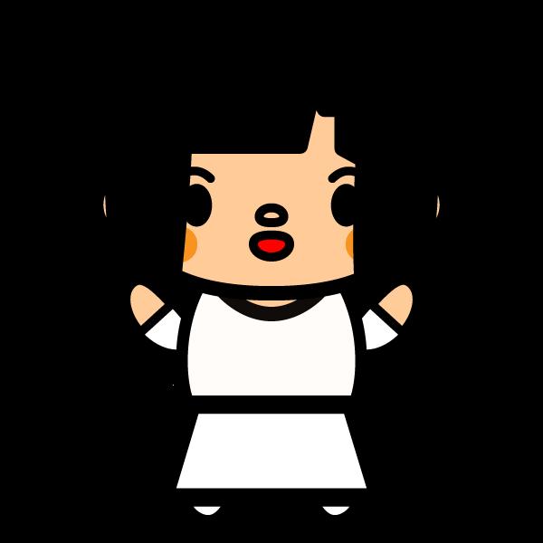 黒髪でかわいい女の子の無料イラスト・商用フリー