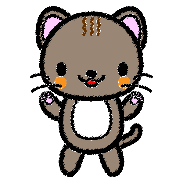手書き風でかわいい猫の無料イラスト・商用フリー