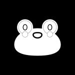 frog_01-face-blackwhite