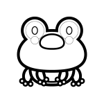 frog_01-sit-blackwhite