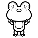 frog_01-stand-blackwhite