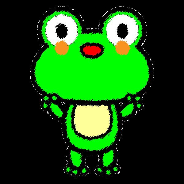 手書き風でかわいいカエルの無料イラスト・商用フリー