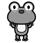 frog_01-stand-monochrome