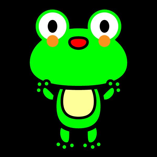 かわいいカエルの無料イラスト・商用フリー