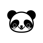 panda_01-face-monochrome