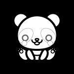 panda_01-sit-blackwhite