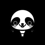 panda_01-sit-monochrome