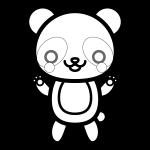 panda_01-stand-blackwhite