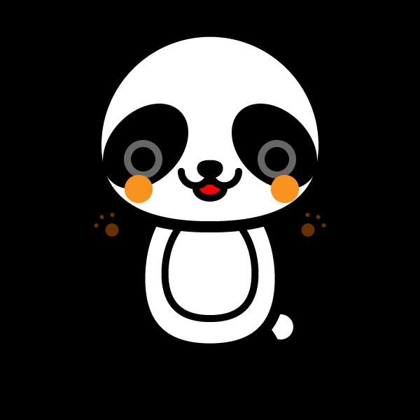 かわいいパンダの無料イラスト・商用フリー