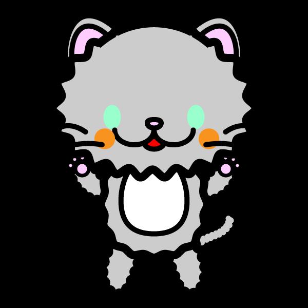 かわいいペルシャ猫の無料イラスト・商用フリー
