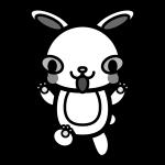 rabbit_angry-monochrome