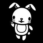 rabbit_enjoy-monochrome