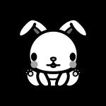 rabbit_sit-monochrome