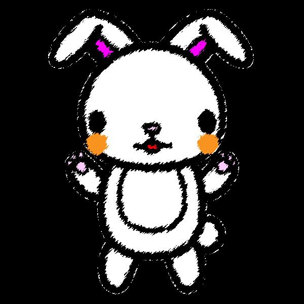rabbit_stand,handwrittenstyle