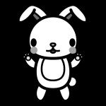 rabbit_stand-monochrome