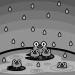 rainyseason_01-frog01-monochrome