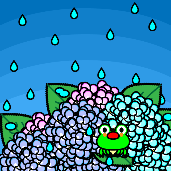 かわいい梅雨の無料イラスト・商用フリー