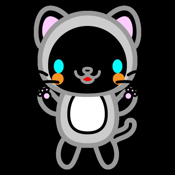 かわいいシャム猫の無料イラスト・商用フリー