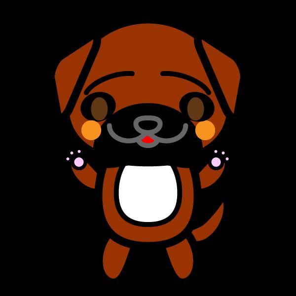 かわいい土佐犬の無料イラスト・商用フリー