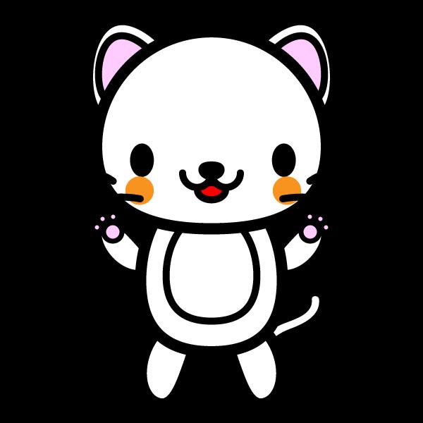 かわいい白猫の無料イラスト・商用フリー