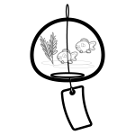 wind‐bell_goldfish-blackwhite