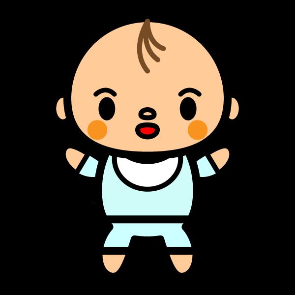 かわいい赤ちゃん(男の子)の無料イラスト・商用フリー
