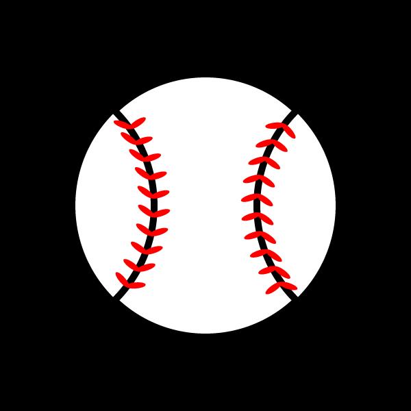 かわいい野球ボールの無料イラスト・商用フリー