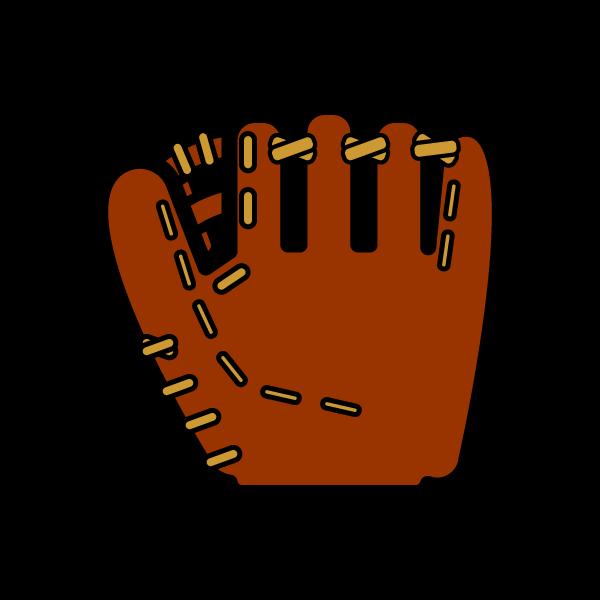 かわいい野球グローブの無料イラスト・商用フリー