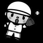 baseball_catching-monochrome