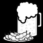 beer_mug-green-soybeans-blackwhite