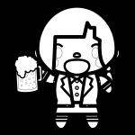 beer_toast-woman-blackwhite