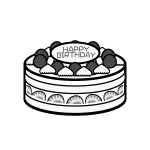 birthday_cake01-monochrome