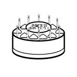 birthday_cake02-blackwhite