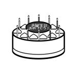 birthday_cake02-monochrome