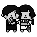 couple_yukata02-monochrome