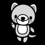 dog_enjoy-monochrome