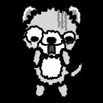 dog_fear-monochrome