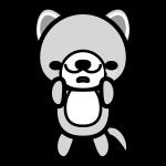 dog_sad-monochrome
