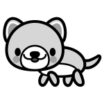 dog_side-monochrome