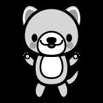 dog_stand-monochrome