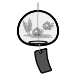 wind‐bell_goldfish-monochrome