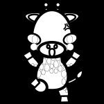 giraffe_angry-blackwhite