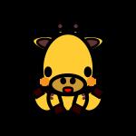 giraffe_sit