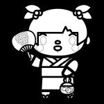 goldfish-scooping_girl-blackwhite