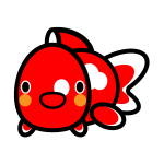 goldfish_red-white-look-back