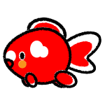 goldfish_red-white-side-handwrittenstyle